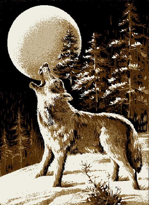 Nightwolf Dorm Room Area Rug